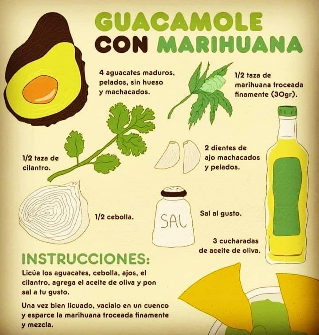 Receta guacamole con marihuana